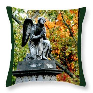 Throw Pillow featuring the photograph An Angels' Prayer by Lesa Fine
