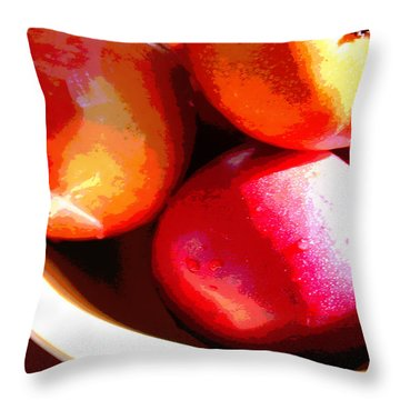An Apple A Day Throw Pillow by Ginny Schmidt