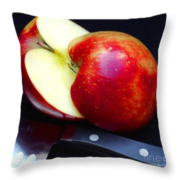 An Apple A Day Throw Pillow by James C Thomas