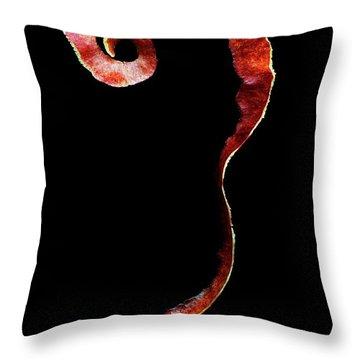 An Apple Peel Throw Pillow