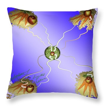 An Apple Within Throw Pillow