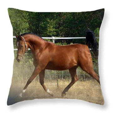 An Arab At Play Throw Pillow