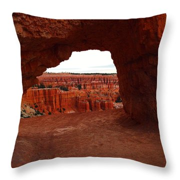 An Arch Foreground The Pillars Throw Pillow by Jeff Swan