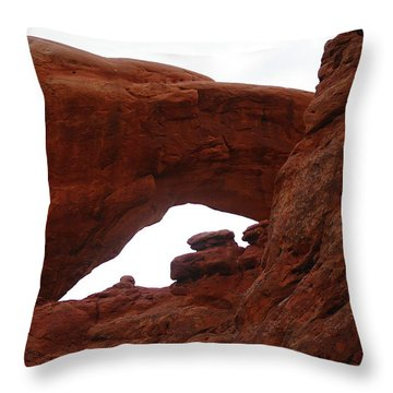 An  Arch  Throw Pillow by Jeff Swan