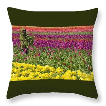 An Arm Full Of Beauty Throw Pillow by Nick  Boren