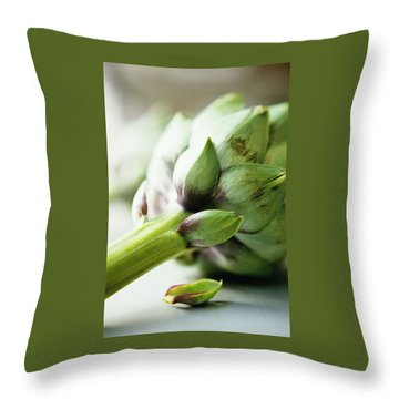 An Artichoke Throw Pillow