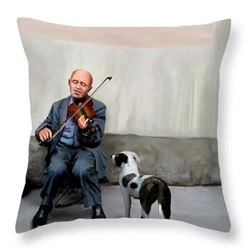 Throw Pillow featuring the painting An Audience Of One by Jann Paxton