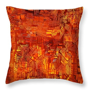 An Autumn Abstraction Throw Pillow by Michael Kulick