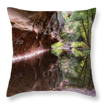 An Autumn Day In West Fork  Throw Pillow by Saija  Lehtonen