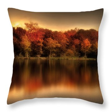 An Autumn Evening Throw Pillow by Jennifer Woodward