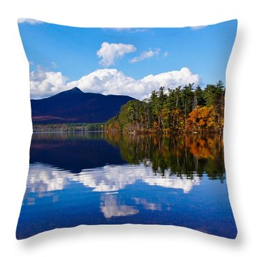 An Autumn Evening On Lake Chocorua Throw Pillow