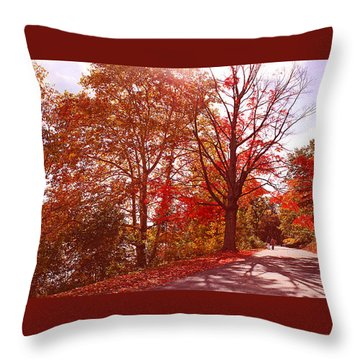 Throw Pillow featuring the photograph An Autumn Walk Along The Charles River by Rita Brown