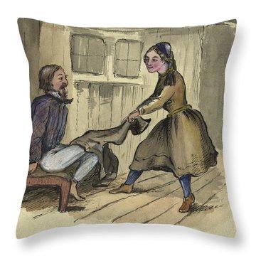An Awkward Predicament Circa 1862 Throw Pillow by Aged Pixel