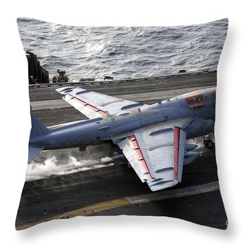 An Ea-6b Prowler Takes Throw Pillow by Stocktrek Images