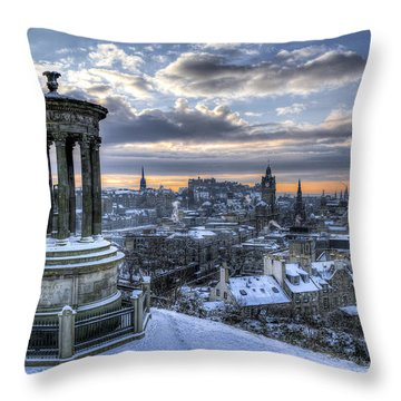 An Edinburgh Winter Throw Pillow