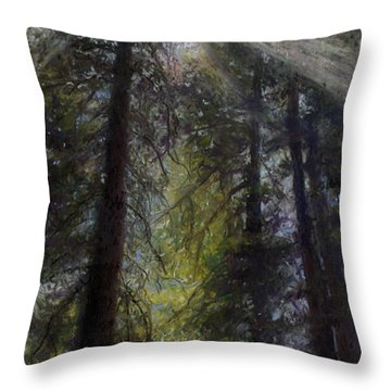 An Enchanted Forest Throw Pillow