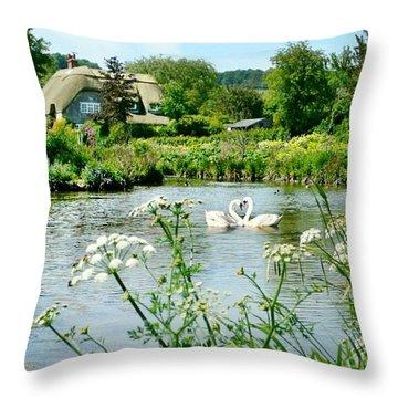 An English Cottage Throw Pillow