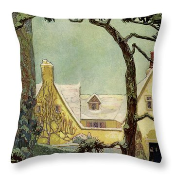An English Country House Throw Pillow