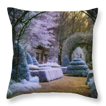 An English Garden Throw Pillow