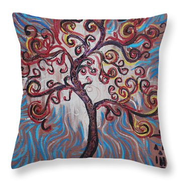 An Enlightened Tree Throw Pillow
