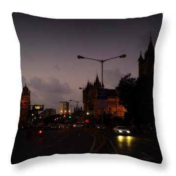 Mumbai Throw Pillow by Salman Ravish