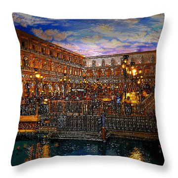 An Evening In Venice Throw Pillow by David Lee Thompson