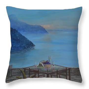 An Evening On The Riviera Throw Pillow