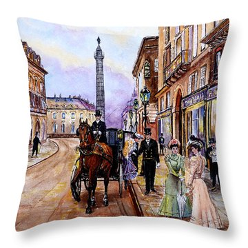 An Evening Out Throw Pillow by Andrew Read