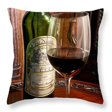 An Evening With Far Niente Throw Pillow