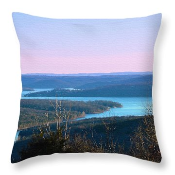 An Everyday View Throw Pillow by Lena Wilhite
