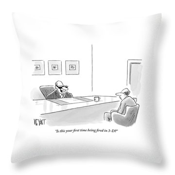 An Executive Behind A Desk Throw Pillow