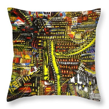 An Exercise In Yellow Throw Pillow by Michael Kulick