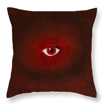 An Eye Is Upon You Throw Pillow