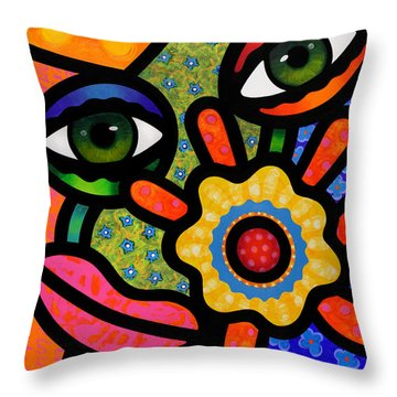 An Eye On Spring Throw Pillow