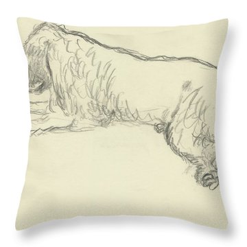 An Illustration Of A Dog Throw Pillow