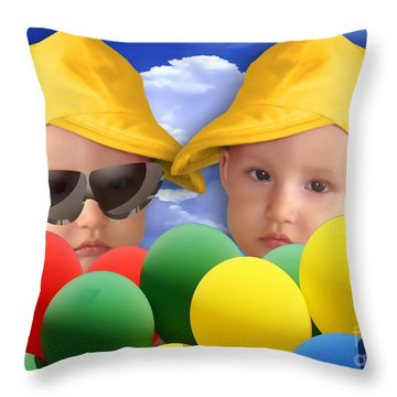 An Image Of A Photograph Of Your Child. - 07a Throw Pillow