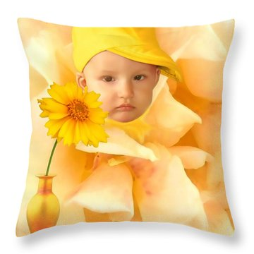 An Image Of A Photograph Of Your Child. - 09 Throw Pillow