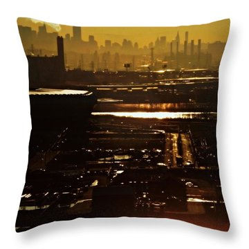 An Imposing Skyline Throw Pillow by James Aiken