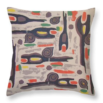 An Impression Of Nature Throw Pillow by Olivia  M Dickerson