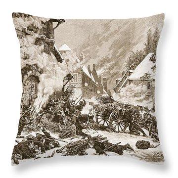 An Incident In The Battle Throw Pillow