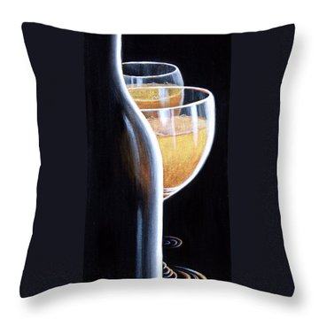Throw Pillow featuring the painting An Indecent Proposal by Sandi Whetzel
