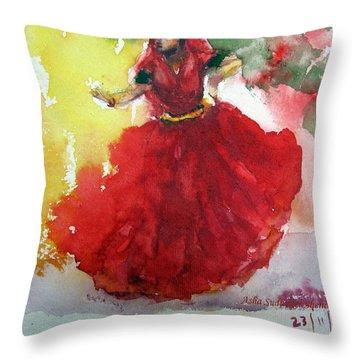 An Indian Dancer Throw Pillow
