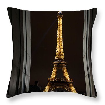 An Intimate Moment With Eiffel Throw Pillow by John Daly