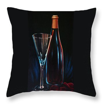 Throw Pillow featuring the painting An Invitation To Romance by Sandi Whetzel