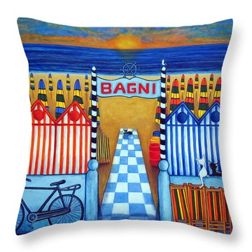 An Italian Summer's End Throw Pillow