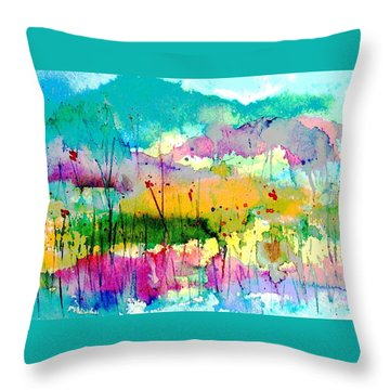 An Oasis In The Desert Throw Pillow by Hazel Holland