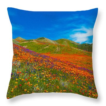 An Ocean Of Orange  Throw Pillow