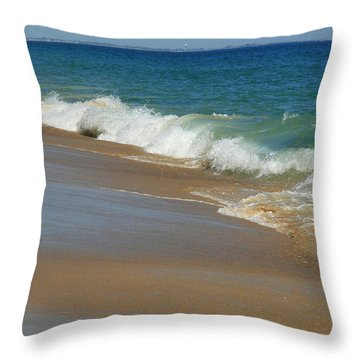 An Ocean View  Throw Pillow by Neal Eslinger