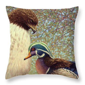 An Odd Couple Throw Pillow