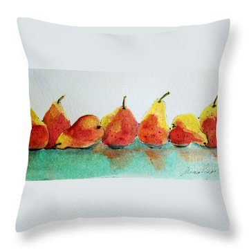 An Odd Pear Throw Pillow